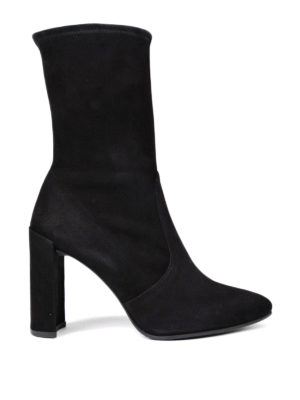 Stuart Weitzman: ankle boots - Clinger stretch suede booties