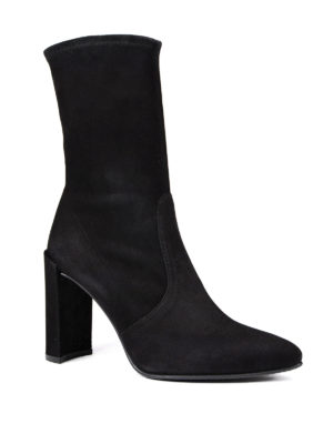 Stuart Weitzman: ankle boots online - Clinger stretch suede booties