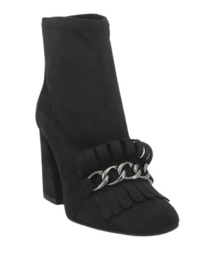 Stuart Weitzman: ankle boots online - Ringleader fringe and chain booties