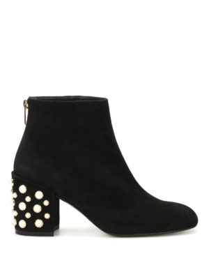Stuart Weitzman: ankle boots - Pearlbacari suede ankle boots