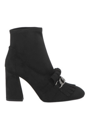 Stuart Weitzman: ankle boots - Ringleader fringe and chain booties