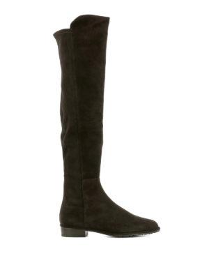 Stuart Weitzman: boots - Allgood brown suede boots