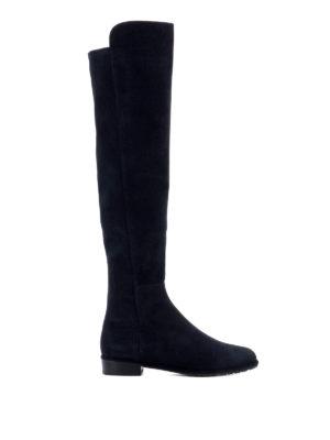 Stuart Weitzman: boots - Allgood dark blue suede boots