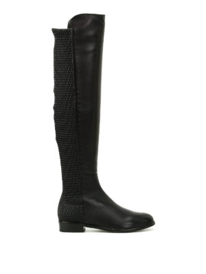 Stuart Weitzman: boots - Allgood stretch back leather boots