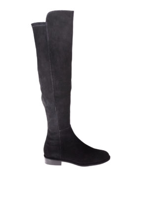 Stuart Weitzman: boots - Allgood stretch back suede boots