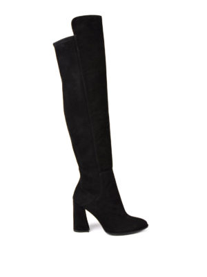 Stuart Weitzman: boots - Allhyped stretch back suede boots