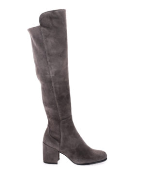 Stuart Weitzman: boots - Alljack stretch back suede boots