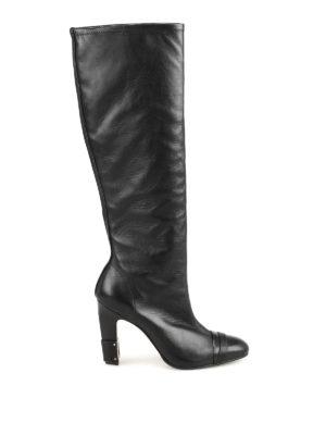 Stuart Weitzman: boots - Carter black leather boots