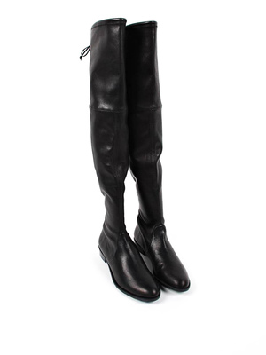 Stuart Weitzman: boots - Cuissard leather boots with string