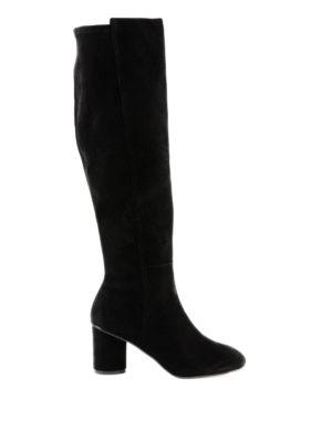 Stuart Weitzman: stivali - Cuissard Eloise in camoscio nero