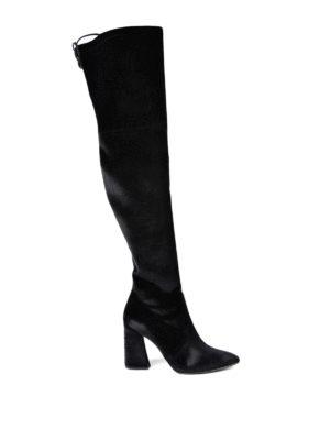 Stuart Weitzman: boots - Funland velvet over-the-knee boots