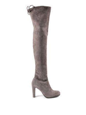 Stuart Weitzman: boots - Highland over-the-knee suede boots