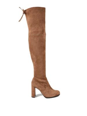 Stuart Weitzman: boots - Hiline heeled suede boots