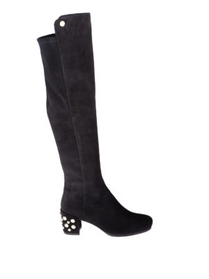 Stuart Weitzman: boots - Infrontpearls embellished boots