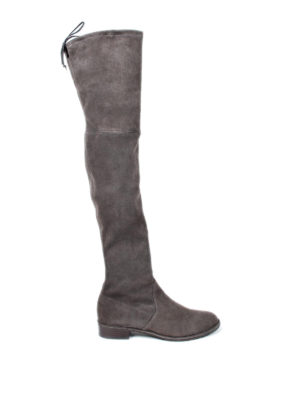 Stuart Weitzman: boots - Lowland over-the-knee suede boots