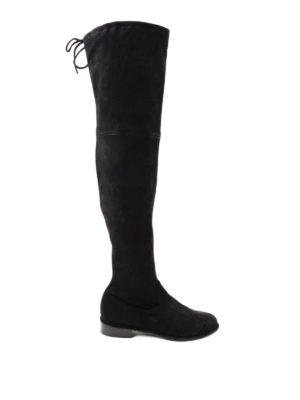 Stuart Weitzman: stivali - Stivali Lowland in camoscio stretch