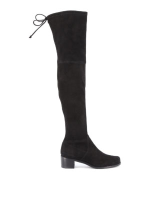 Stuart Weitzman: boots - Midland over-the-knee suede boots