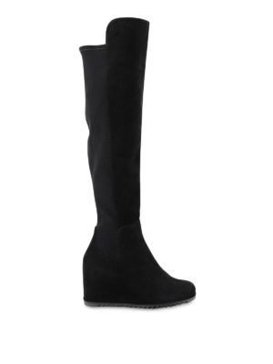 Stuart Weitzman: boots - More suede wedge boots