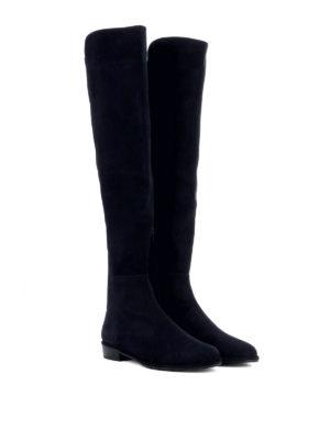 Stuart Weitzman: boots online - Allgood dark blue suede boots