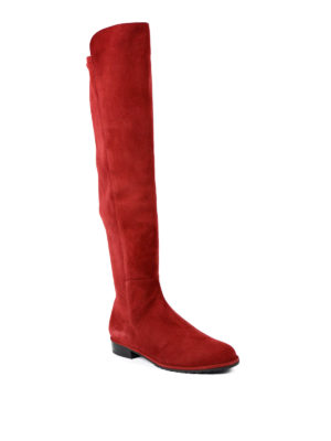 Stuart Weitzman: boots online - Allgood scarlet suede boots
