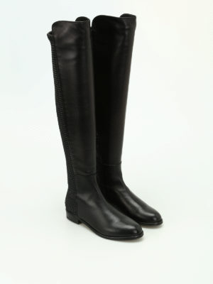 Stuart Weitzman: boots online - Allgood stretch back leather boots