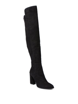 Stuart Weitzman: boots online - Allhyped stretch back suede boots