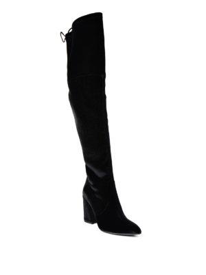 Stuart Weitzman: boots online - Funland velvet over-the-knee boots