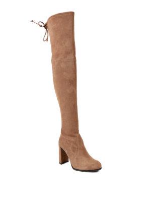 Stuart Weitzman: boots online - Hiline heeled suede boots