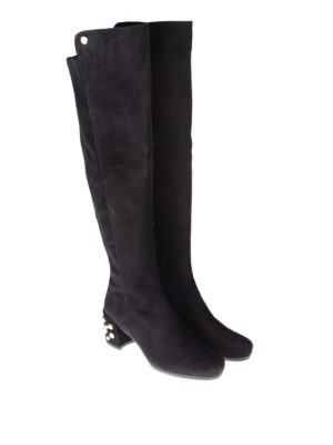Stuart Weitzman: boots online - Infrontpearls embellished boots