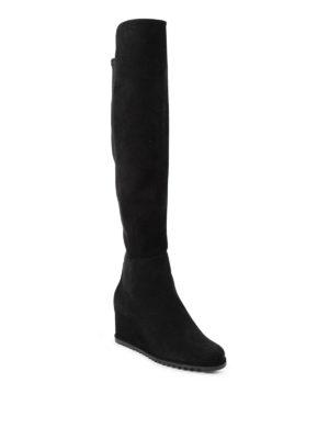 Stuart Weitzman: boots online - More suede wedge boots