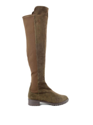 Stuart Weitzman: boots - Schizo suede boots
