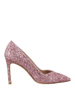 Stuart Weitzman: court shoes - Anny glitter pumps