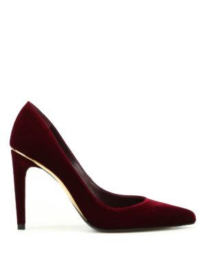 Stuart Weitzman: court shoes - Curvia velvet pumps