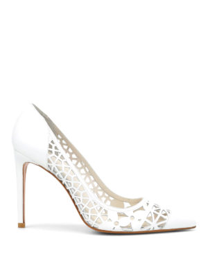 Stuart Weitzman: court shoes - Cutuptown laser-cut leather pumps