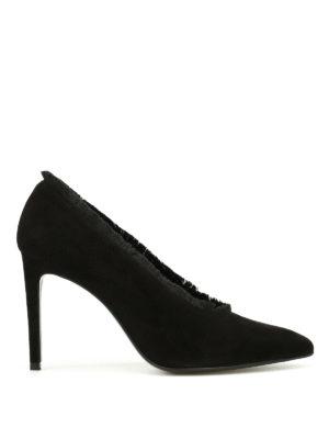Stuart Weitzman: court shoes - Longlashes suede pumps