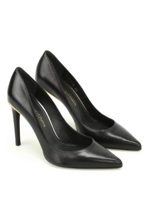Stuart Weitzman: court shoes online - Curvia leather pumps