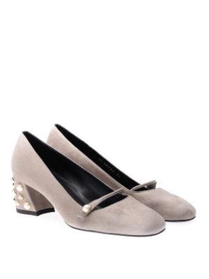 Stuart Weitzman: court shoes online - Pearlstrap suede low pumps