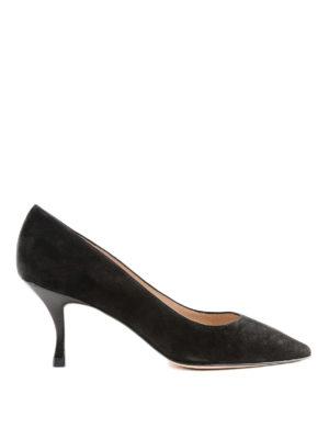 Stuart Weitzman: scarpe décolleté - Décolleté nere Tippi in camoscio