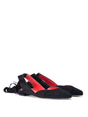 Stuart Weitzman: flat shoes online - Supersonic suede flat shoes