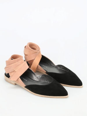 Stuart Weitzman: flat shoes online - Supersonic two-tone flat shoes
