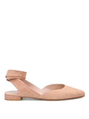 Stuart Weitzman: flat shoes - Supersonic suede flat shoes