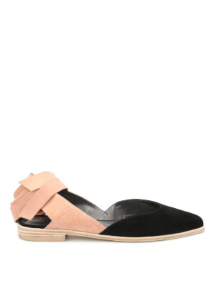 Stuart Weitzman: flat shoes - Supersonic two-tone flat shoes