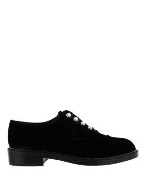 Stuart Weitzman: lace-ups shoes - Mrs. Pats velvet Oxford shoes