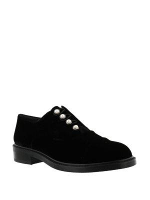 Stuart Weitzman: lace-ups shoes online - Mrs. Pats velvet Oxford shoes