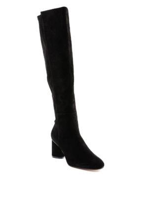 Stuart Weitzman: stivali online - Cuissard Eloise in camoscio nero