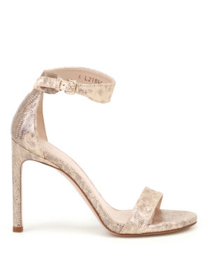 Stuart Weitzman: sandals - Backuptiz printed leather sandals