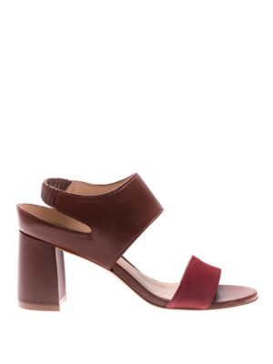Stuart Weitzman: sandals - Erica leather and suede sandals