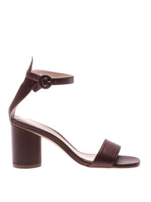 Stuart Weitzman: sandals - Kendra leather sandals