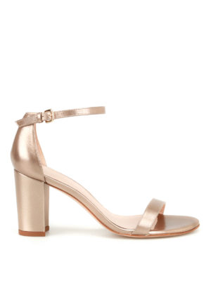 Stuart Weitzman: sandals - Nearly Nude gold-tone sandals