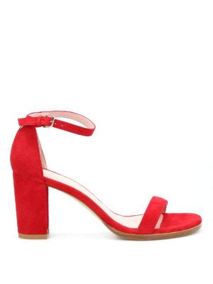 Stuart Weitzman: sandals - Nearlynude suede sandals